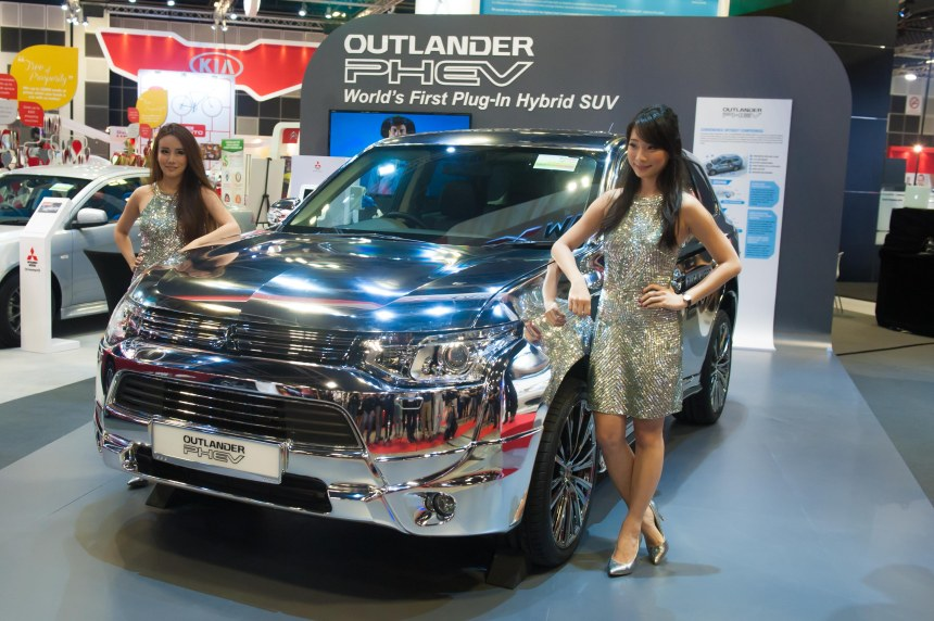 Launch of the new Mitsubishi Outlander PHEV - the world's first plug-in hybrid SUV